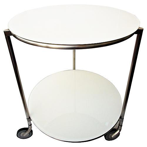 Modern Chrome Side Table