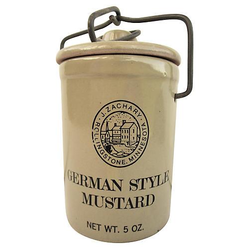 Stoneware German-Style Mustard Crock