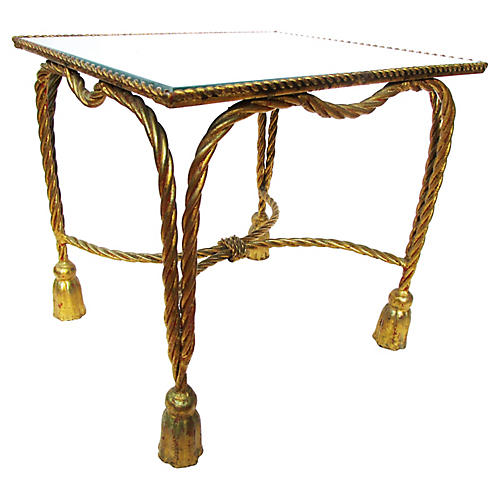 Antique Italian Gilded Tassel Table