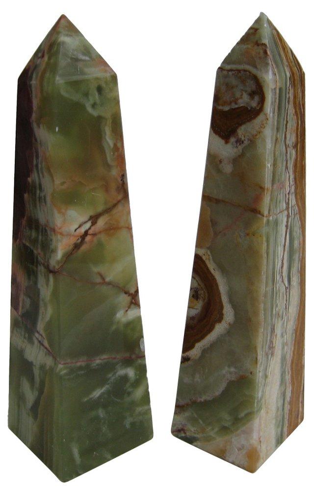 Onyx Obelisks, Pair