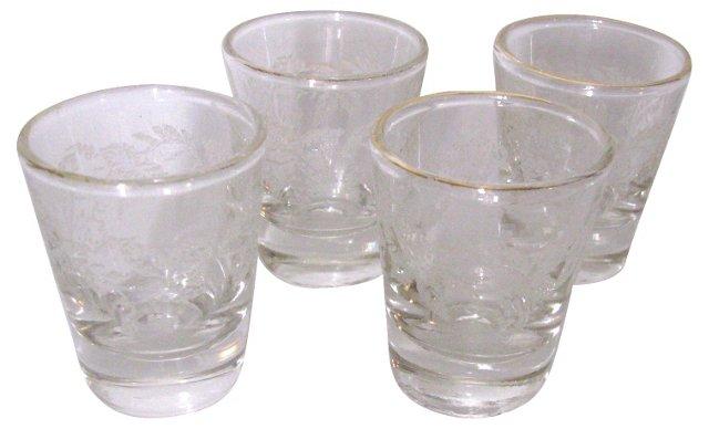 Grape-Motif Shot Glasses, S/4
