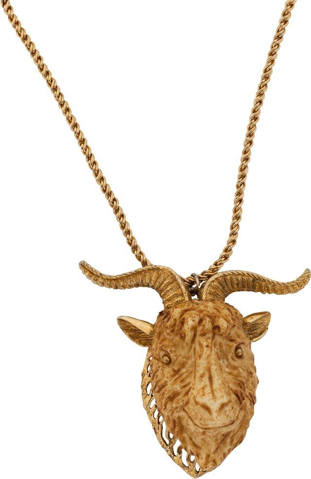 1960s Razza Goat Zodiac Necklace