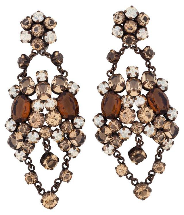 Demaldé Rhinestone Cluster Earrings