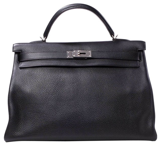 Hermès Black Togo Kelly, 40cm