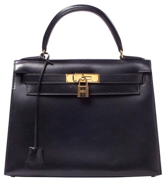 Hermès Black Kelly Bag, 32cm