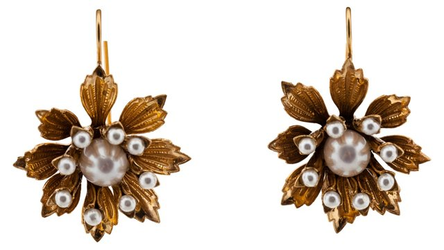 Gold-Filled Faux-Pearl Earrings