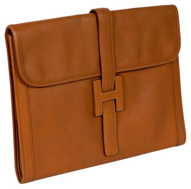 Hermès Jige Epson Leather Clutch