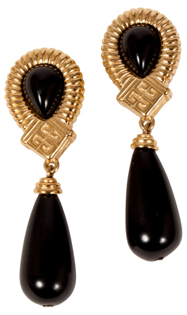 Givenchy Black Drop Earrings