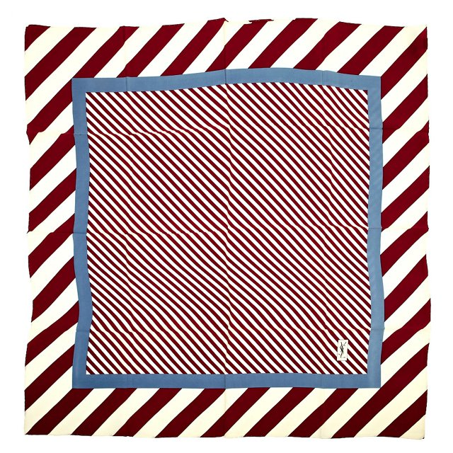 YSL Multi-Stripe Silk Scarf