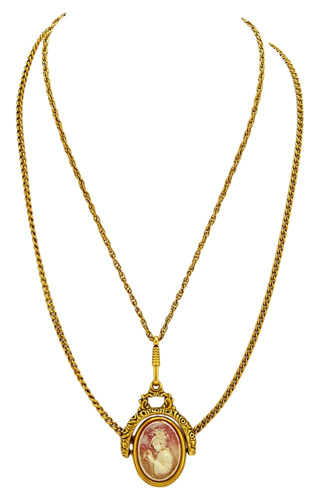 Goldette Double-Strand Cameo Necklace