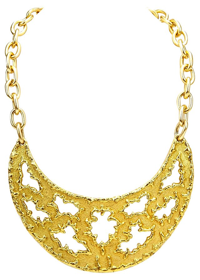 Jomaz Bib Gold Necklace