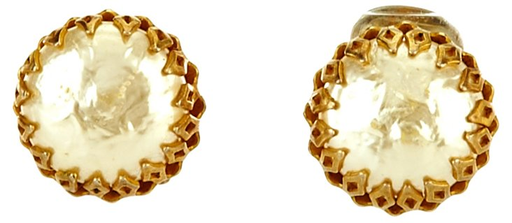 Miriam Haskell Faux-Pearl      Earrings