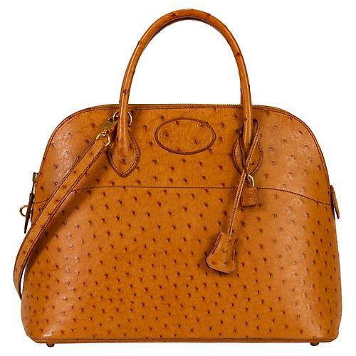 Hermès 35cm Chestnut Ostrich Bolide Bag
