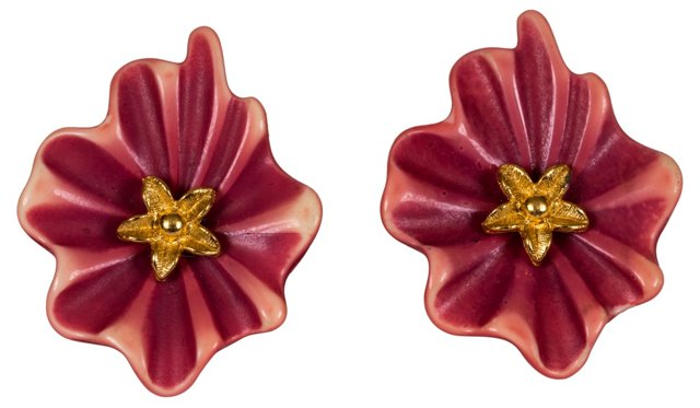 1980s Givenchy Floral Earrings