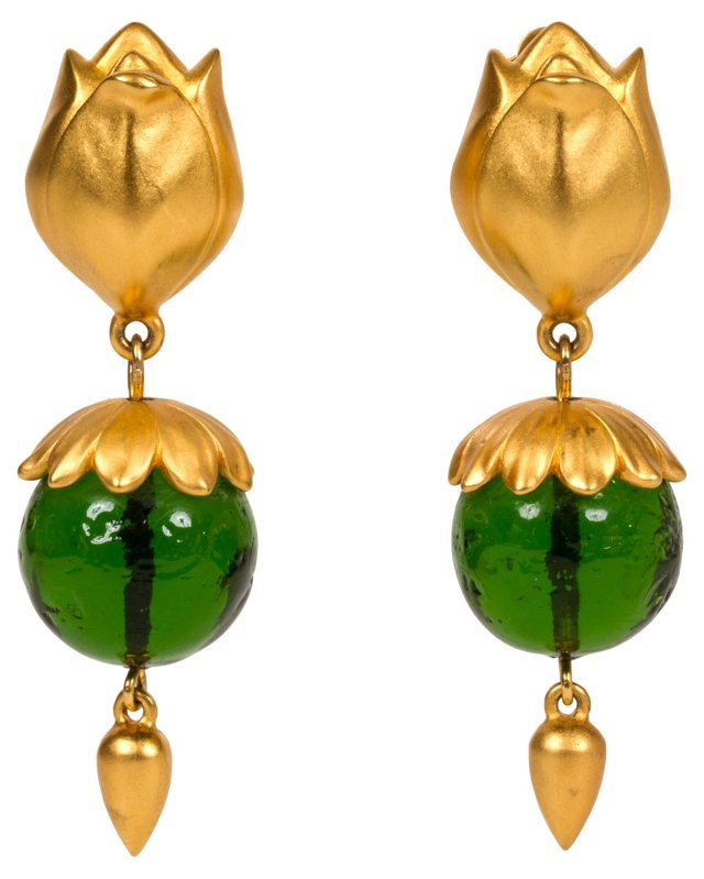 Karl Lagerfeld Gripoix Earrings