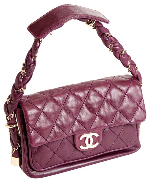 Chanel Purple Lambskin Lady Braid Bag