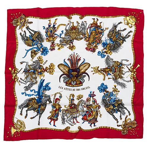 Hermès Les Fêtes du Roi Soleil Scarf