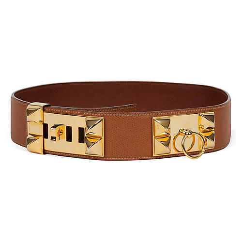 Hermès Collier de Chien Gold Belt