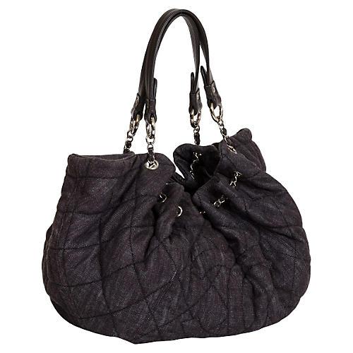 Chanel Oversize Denim Black Cabas Bag
