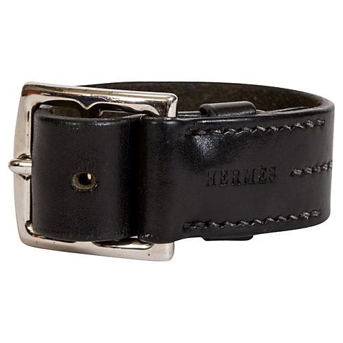 Hermès Black Unisex Leather Bracelet