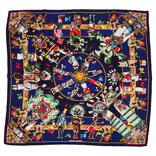 Hermès Kachinas Collectible Oliver Scarf