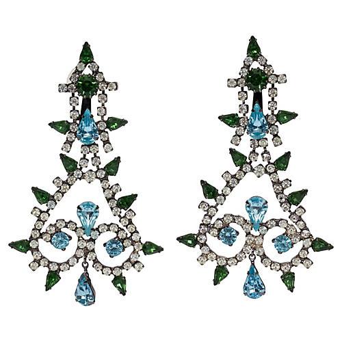 Kenneth J. Lane Rhinestone Drop Earrings