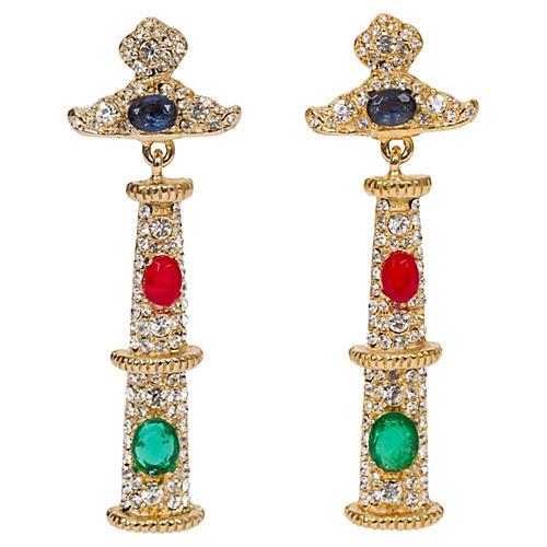 Kenneth Jay Lane Multi-Stone Earrings