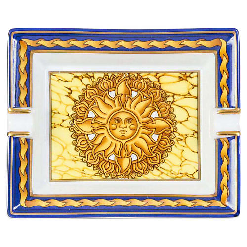 Hermès Soleil Blue Porcelain Ashtray
