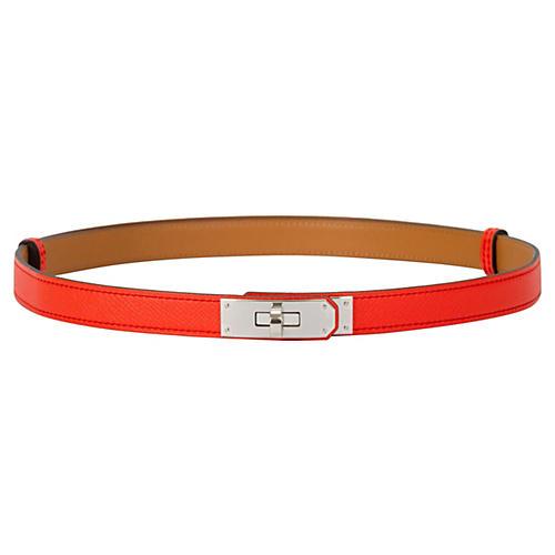Hermès Rare Rose Jaipur Kelly Belt