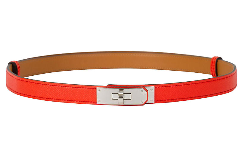Hermès Rose Jaipur Kelly Belt