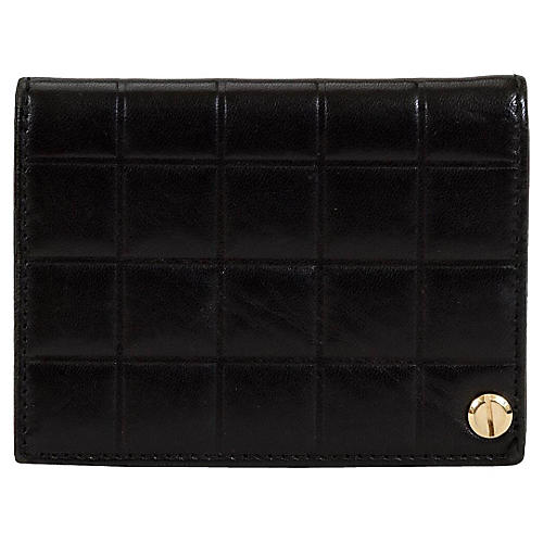 Chanel Black Chocolate Bar Card Wallet