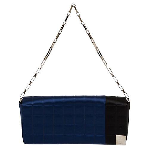 Chanel Black & Blue Evening Silk Bag