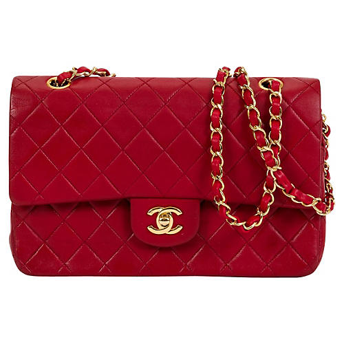 Chanel Red Double Flap Classic