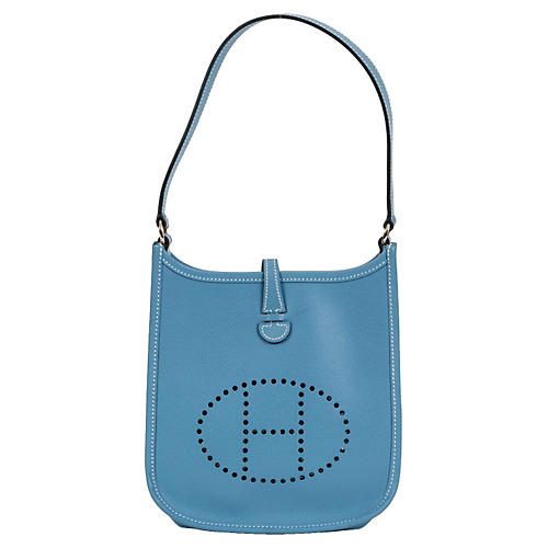 Hermès Mini Blue Jean Evelyne Bag
