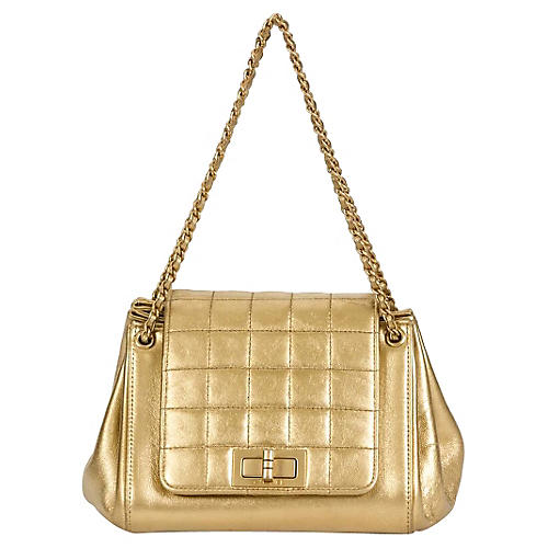 Chanel Gold Accordion Quilted Bag