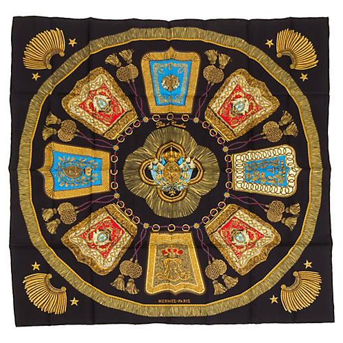 Hermès Poste et Cavalerie Silk Scarf