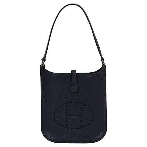 Hermès Indigo Blue Epsom Mini Evelyne