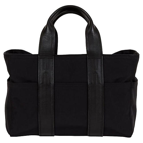 Small Hermès Leather & Nylon Handbag