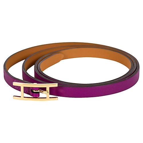 Hermès Anemone Purple Wrap Bracelet