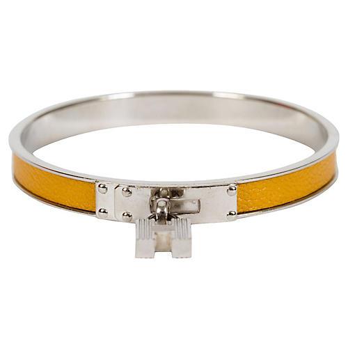 Hermès Yellow Lock Bangle Bracelet
