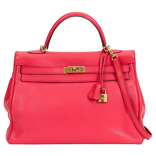 Hermès 35cm Rose Jaipur Kelly Bag