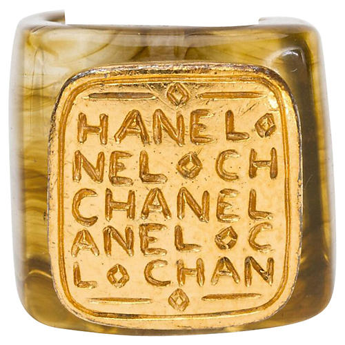 Chanel Lucite & Gold Ring, 1999