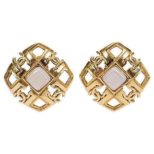 Chanel Gold & Gripoix Earrings