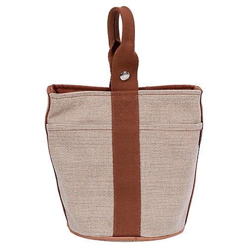 869ee00803a5 Hermès Two-Tone Toile Bucket Bag
