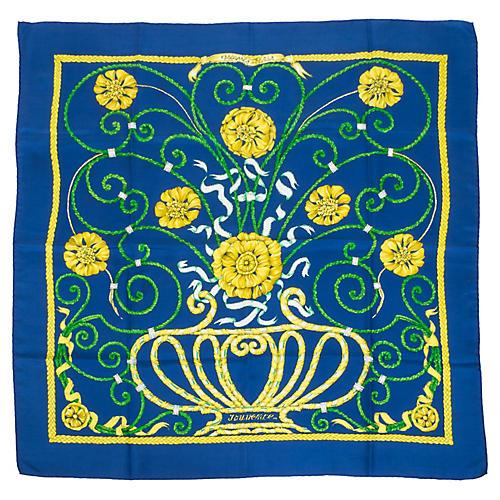 Hermès Blue Jounce Silk Scarf