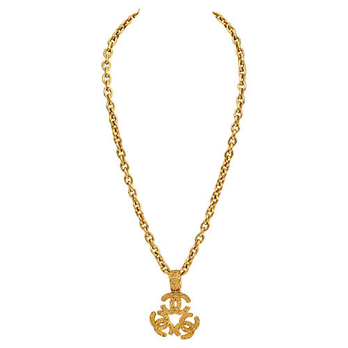 Chanel Extra-Long Triple-Logo Necklace