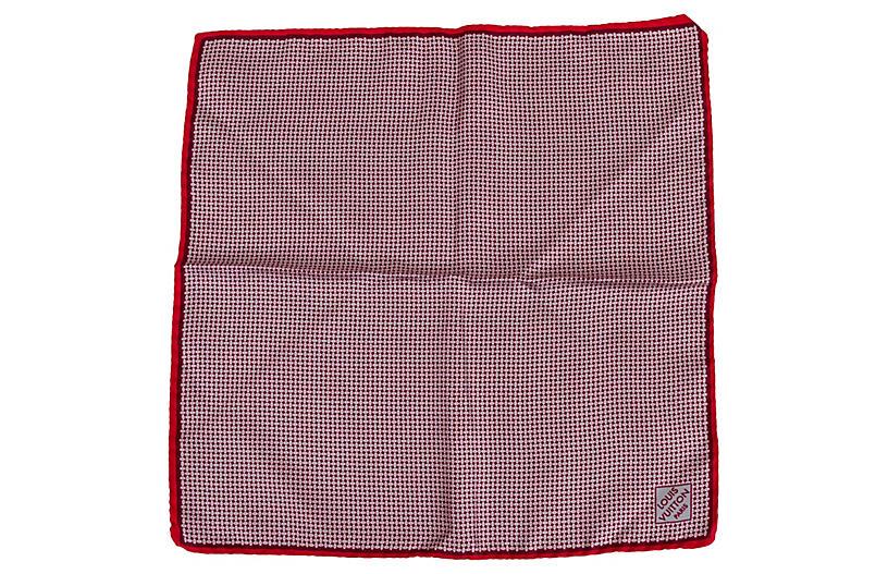 Louis Vuitton Red Silk Pocket Scarf