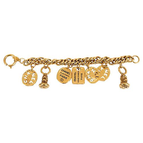 '80s Chanel Seals & Coins Charm Bracelet