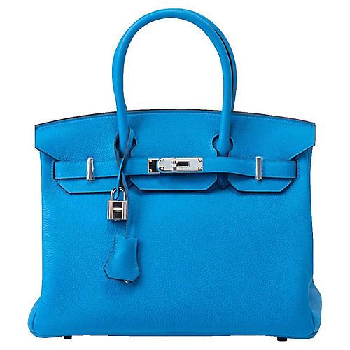 Hermès 30cm Verso Malachite Birkin