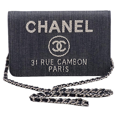 Chanel Denim & Leather Crossbody Bag